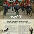 KLM - 1979 - BICYCLE BAND OF OPENDE PRINT AD
