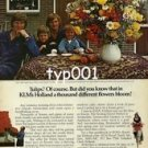 KLM - 1979 - A THOUSAND DIFFERENT FLOWERS BLOOM IN HOLLAND PRINT AD