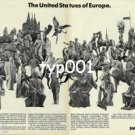 SWISSAIR - 1979 - THE UNITED STATUES OF EUROPE PRINT AD