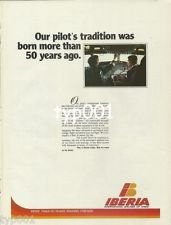 IBERIA - 1979 -  OUR PILOT'S TRADITION WAS BORN MORE THAN 50 YEARS AGO PRINT AD