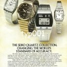 SEIKO - 1976 - THE SEIKO QUARTZ COLLECTION PRINT AD