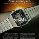 SEIKO - 1979 - SOLAR POWERED QUARTZ ALARM CHRONOGRAPH PRINT AD