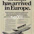 BRANIFF - 1979 - BRANIFF HAS ARRIVED IN EUROPE PRINT AD - 2