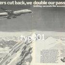 PIA PAKISTAN INTERNATIONAL AIRWAYS - 1976 - WE DOUBLE OUR PASSENGERS PRINT AD