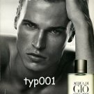 ARMANI - 2009 - AQUA DI GIO MEN'S FRAGRANCE FRENCH PRINT AD