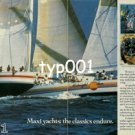 ROLEX - 1985- MAXI YACHTS THE CLASSICS ENDURE PRINT AD