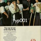 JAL JAPAN AIR LINES - 1979  TEENAGE GIRLS & KENDO PRINT AD