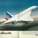 AIR FRANCE - 1980 - L'EFFICACITE - EFFICIENCY PRINT AD - CONCORDE