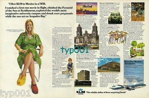 KLM - 1973 - I FLEW KLM TO MEXICO IN A 747B PRINT AD