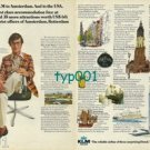 KLM - 1973 - I FLEW KLM TO AMSTERDAM AND TO THE USA PRINT AD