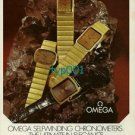 OMEGA - 1973 - SELF WINDING CHRONOMETERS ULTIMATE IN ELEGANCE PRINT AD