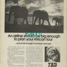 TAP PORTUGESE AIRLINES - 1973 - BIG ENOUGH TO PLAN YOUR AFRICAN TOUR PRINT AD