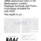 BOAC - 1964 - SHAKESPEARE'S COUNTRY- PRINT AD