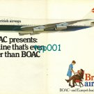 BOAC - BEA - BRITISH AIRWAYS - 1973 - AN AIRLINE EVEN BETTER THAN BOAC PRINT AD