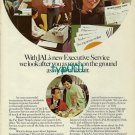 JAL JAPAN AIR LINES - 1973 - EXECUTIVE SERVICE OFF AND ON BOARD PRINT AD