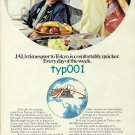 JAL JAPAN AIR LINES - 1974 - TIMESAVER TO TOKYO IS COMFORTABLY QUICKER PRINT AD