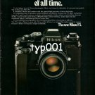 NIKON - 1980 - THE MOST THOUGHTFUL NIKON OF ALL TIME PRINT AD