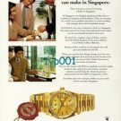 ROLEX - 1998 - SOLID GOLD ROLEX IS THE BEST BUY IN SINGAPORE PRINT AD