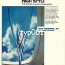 AIR FRANCE - 1985 - HIGH STYLE  PRINT AD