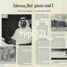 SABENA - 1979 - SABENA BELGIUM AND I PRINT AD
