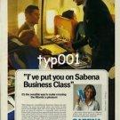 SABENA - 1983 - I'VE PUT YOU ON SABENA BUSINESS CLASS PRINT AD