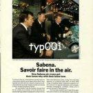 SABENA - 1985 - EXPERTISE SAVOIR FAIRE IN THE AIR PILOT TRAINING PRINT AD