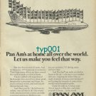 PAN AM - 1974 - AT HOME ALL OVER THE WORLD PRINT AD