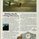 ROLEX - 1990 - WAHIBA SANDS A LIVING LABORATORY PRINT AD