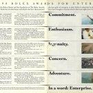 ROLEX - 1990 - ROLEX AWARDS FOR ENTERPRISE PRINT AD
