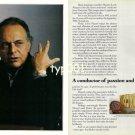 ROLEX - 1990 - MAESTRO LORIN MAAZEL A CONDUCTOR OF PASSION PRINT AD