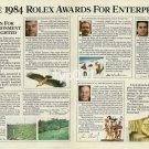 ROLEX - 1984 - THE 1984 ROLEX AWARDS FOR ENTERPRISE PRINT AD
