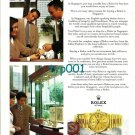 ROLEX - 1996 - SOLID GOLD ROLEX IS THE BEST BUY IN SINGAPORE PRINT AD