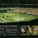 ROLEX - 1984 - HOW TIMES HAVE CHANGED AT WIMBLEDON PRINT AD