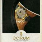 CORUM - 1990 - THE METEORITE PEARY WATCH PRINT AD