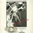 OMEGA - 1986 - SIGNIFICANT MOMENTS - ESCAPE, EXHILARATION, PLEASURE PRINT AD
