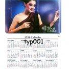 THAI CARGO - THAILAND - 1996 WALLET CALENDAR CARD