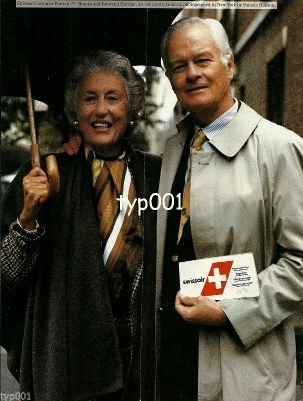 SWISSAIR - 1990 - CUSTOMER PORTRAIT 77 - HANSONS ART COLLECTORS PRINT AD