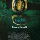 CITIZEN - 1973 - CITIZEN OF THE WORLD PRINT AD