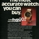 CITIZEN - 1976 - THE MOST ACCURATE WATCH YOU CAN BUY PRINT AD