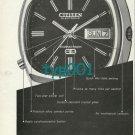 CITIZEN - 1973  IT TAKES MORE THAN CRAFTSMANSHIP TO MAKE A MODERN WATCH PRINT AD