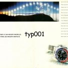 ROLEX - 1998 - FOR A 24 HOUR WORLD 24 HOUR WATCH - GMT MASTER PRINT AD