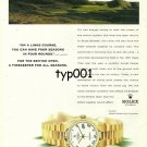 ROLEX - 1998 - FOR THE BRITISH OPEN A TIMEKEEPER FOR ALL SEASONS GOLF PRINT AD