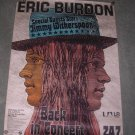 ERIC BURDON 1973 THE LEGEND BACK IN CONCERT IN MUNICH POSTER - ANIMALS - WAR