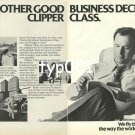 PAN AM - 1980 - ANOTHER GOOD BUSINESS DECISION CLIPPER CLASS B&W PRINT AD