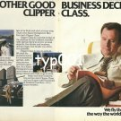 PAN AM - 1980 - ANOTHER GOOD BUSINESS DECISION CLIPPER CLASS COLOR PRINT AD