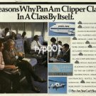 PAN AM - 1984 - 10 REASONS WHY CLIPPER CLASS IS IN A CLASS BY ITSELF PRINT AD