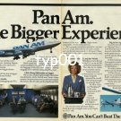 PAN AM - 1985 - THE BIGGER EXPERIENCE PRINT AD