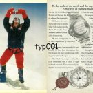 ROLEX - 1996 - TO THE ENDS OF THE EARTH AND TO THE TOP OF THE WORLD PRINT AD
