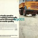 MERCEDES BENZ - 1973 MERCEDES TRUCKS SPEAK UNIVERSAL LANGUAGE: QUALITY PRINT AD