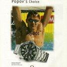 OMEGA - 2000 - ALEXANDER POPOV'S CHOICE - SWIMMING SYDNEY OLYMPICS PRINT AD